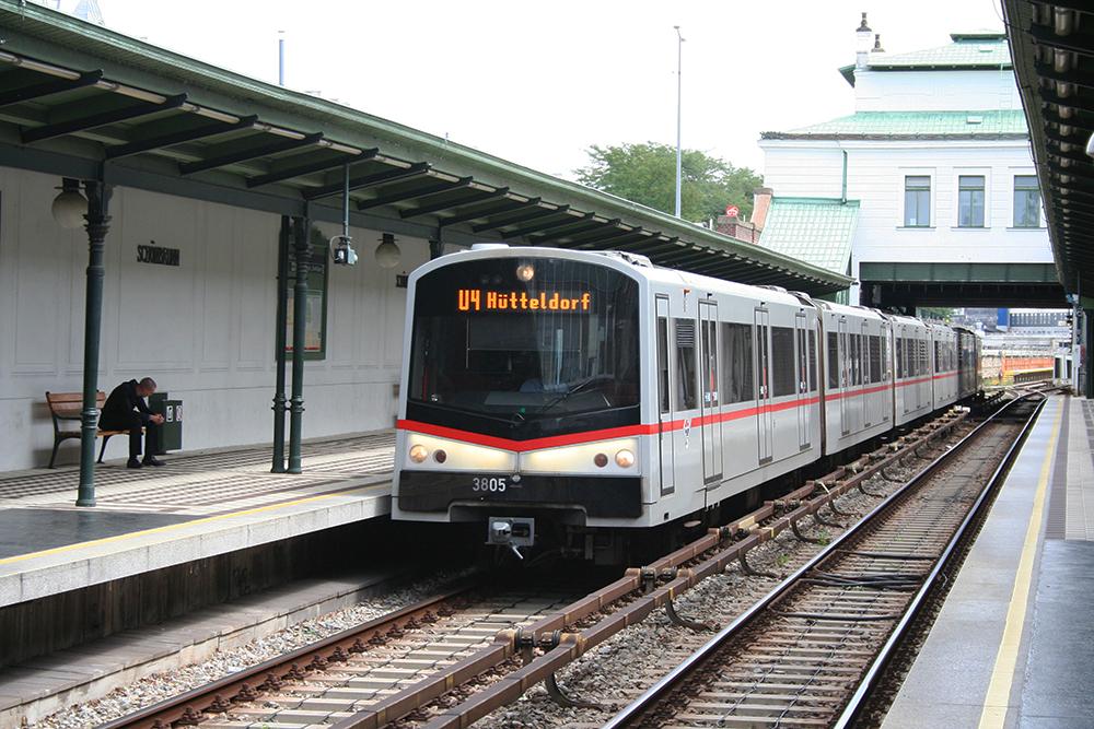 3805 Auf Der U4 Heiligenstadt Hütteldorf Richtung Hütteldorf An